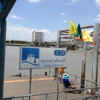 Photo taken at ท่าเรือพระราม 7 (Rama 7 Pier) N24 by Honghang on 7/21/2012