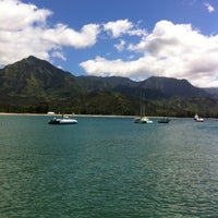 Photo taken at Hanalei Beach by Nicole B. on 6/11/2012