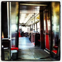 Photo taken at TTC Streetcar #501 Queen by Christine C. on 5/5/2012