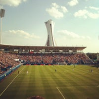 Photo taken at Stade Saputo by Karim K. on 8/25/2012