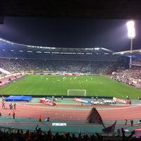 Photo taken at King Baudouin Stadium by Emiel V. on 3/24/2012