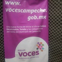 Photo taken at Voces Campeche XE-TEB 920 AM by Lucian C. on 6/1/2012