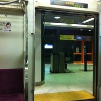 Photo taken at Namboku Line Shirokane-takanawa Station (N03) by Miho on 4/8/2012