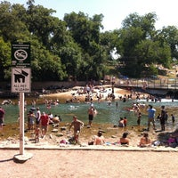 Photo taken at Barton Springs Spillway by Gino B. on 6/23/2012