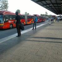 Photo taken at Metrobús Indios Verdes by Daniel S. on 8/29/2012