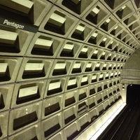 Photo taken at Pentagon Metro Station by Alex M. on 8/28/2012