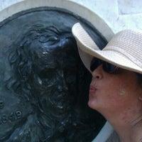 Photo taken at Grave of Edgar Allan Poe by Denise D. on 7/31/2012
