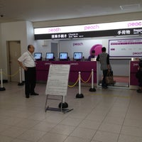 Photo taken at ピーチ航空 チェックインカウンター by 9o_o9 on 5/22/2012