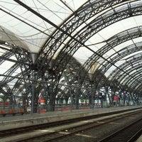 Photo taken at Dresden Hauptbahnhof by Max V. on 5/8/2012