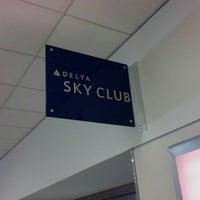 Photo taken at Delta Sky Club by Zac J. on 7/4/2012