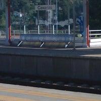 Photo taken at Estação Ferroviária de Caxarias by Gabriela P. on 8/19/2012