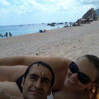 Photo taken at Spiaggia dei Gabbiani by Michele C. on 8/14/2012