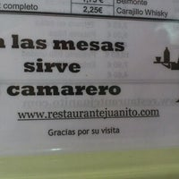 Photo taken at Restaurante Juanito by Manuel C. on 6/22/2012
