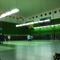 Photo taken at BJGCR Badminton Court by Kim Seng C. on 7/22/2012