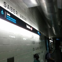 Photo taken at Metro Saldanha [AM,VM] by Filipe P. on 8/31/2012