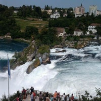 Photo taken at Rheinfall by Andreea C. on 8/23/2012