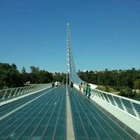 Photo taken at Sundial Bridge by Ramana R. on 8/14/2011