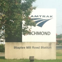 Photo taken at Richmond - Staples Mill Road Amtrak Station (RVR) by Hedge on 7/3/2012