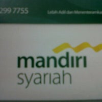 Photo taken at Bank Syariah Mandiri by edria d. on 6/4/2012