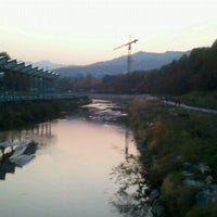 Photo taken at Yangjaechun Trails by John Young K. on 11/3/2011