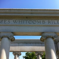 Photo taken at James Whitcomb Riley's Grave Site. by Eric T. on 6/7/2012