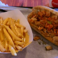 Photo taken at ForeFathers Gourmet Cheesesteaks & Fries by Brandon B. on 1/19/2012