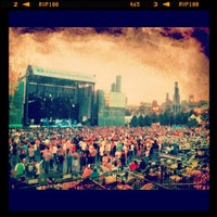Photo taken at Huntington Bank Pavilion at Northerly Island by Andrew on 8/18/2012
