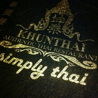 Photo taken at Khunthai Authentic Thai Restaurant by Peruthivi R. on 8/2/2012