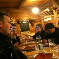 Photo taken at Auberge Le Pied du Hohneck by Tom L. on 3/3/2012
