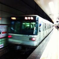 Photo taken at Hibiya Line Hatchobori Station (H11) by Toru T. on 10/19/2011