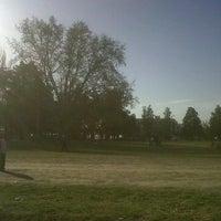 Photo taken at Parque Hipólito Yrigoyen by Mauricio D. on 9/18/2011