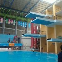 Photo taken at Jakabaring Aquatic Stadium by Priska K. on 11/11/2011