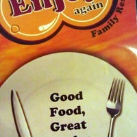 Photo taken at Enjoy Again Family Restaurant by Bernard A. on 4/14/2012