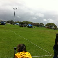 Photo taken at Eddie Tam Field and Gym by hnygirl2000 on 6/20/2012