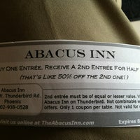 Photo taken at Abacus Inn Chinese Restaurant by The T. on 7/12/2012