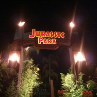 Photo taken at Jurassic Park The Ride by J B. on 7/31/2012