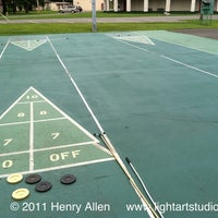 Photo taken at Shuffleboard Court by Knah A. on 8/4/2011