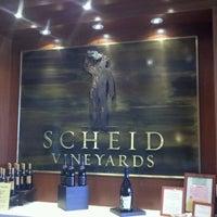 Photo taken at Scheid Vineyards Tasting Room by Carlos R. on 10/5/2011