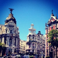 Photo taken at Gran Vía by Sandro S. on 8/14/2012