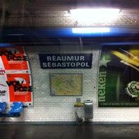Photo taken at Métro Réaumur—Sébastopol [3,4] by Raphael T. on 6/18/2012