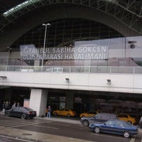 Photo taken at Istanbul Sabiha Gökçen International Airport (SAW) by Mirac B. on 3/30/2012