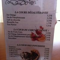 Photo taken at Café Des Cours by Lyne B. on 3/5/2011
