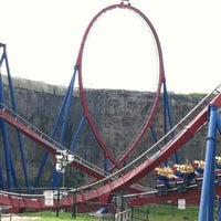 Photo taken at Six Flags Fiesta Texas by D C. on 3/16/2012