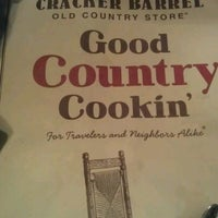 Photo taken at Cracker Barrel Old Country Store by Khari m. on 1/4/2012