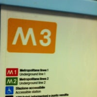 Photo taken at Metro Porta Romana (M3) by Emanuele P. on 9/20/2011
