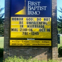 Photo taken at First Baptist Irmo by Gilbert M. on 10/15/2011