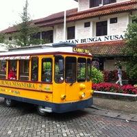 Photo taken at Taman Bunga Nusantara by Ivan A. on 1/8/2012