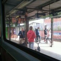 Photo taken at Salford Crescent Railway Station (SLD) by Les W. on 5/21/2011