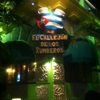 Photo taken at El callejón de los Rumberos by Metztli I. on 2/11/2012