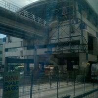 Photo taken at Yellow Line - Araneta Center-Cubao Station by Bok P. on 4/7/2012